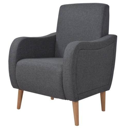 Темно-серый тканевый кресле
