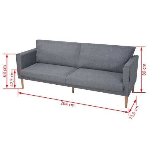 3-местный диван в светло-серой ткани