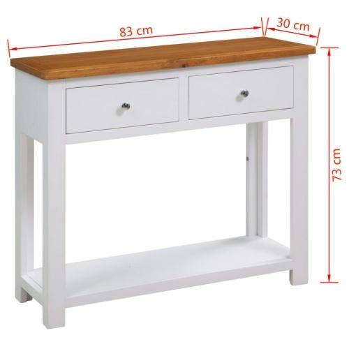 Консольный стол 83x30x73 см из дубового дерева
