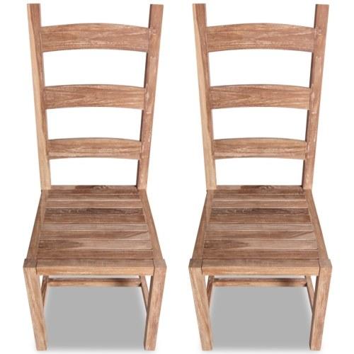 Большие стулья для столовой 2 шт. В тике 45.5x53x111 см