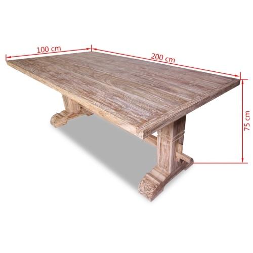 9 шт. Набор больших столов и стульев Столовая в тике
