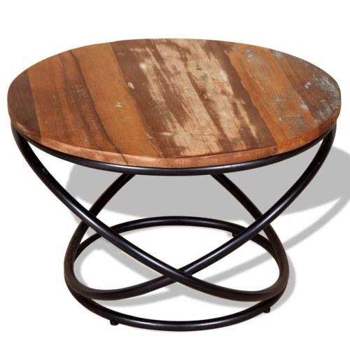 Регенерированный столовый журнальный столик 60x60x40 см