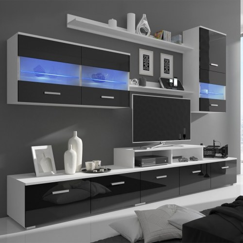 Телевизионный блок Семь штук со светодиодной лакировкой 250 см