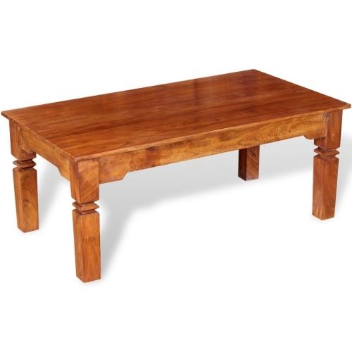 Журнальный стол из массивной древесины 110х60х45 см