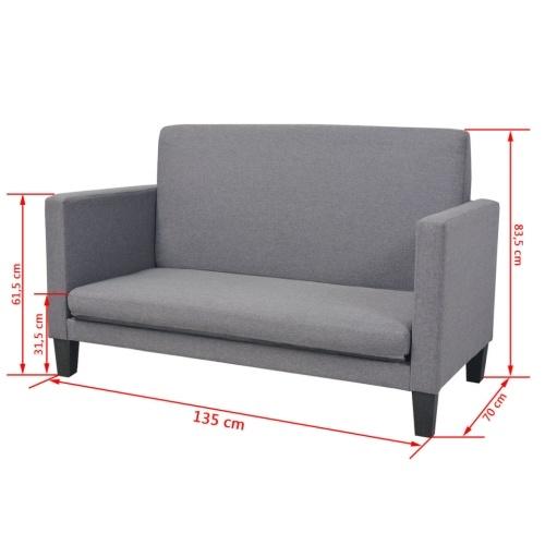 Диван-кровать в ткани 135x70x83.5 см Темно-серый