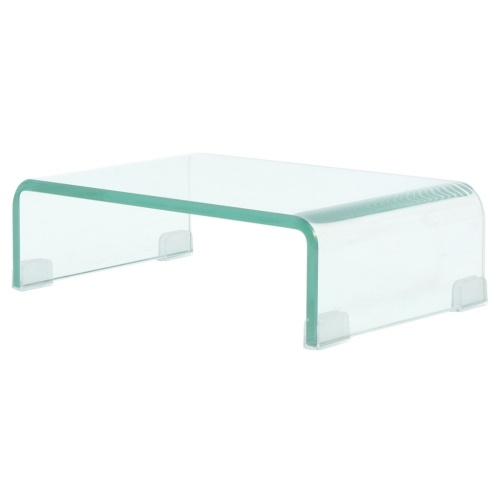 Подставка для мобильного / Boost TV в белом стекле 40x25x11 см