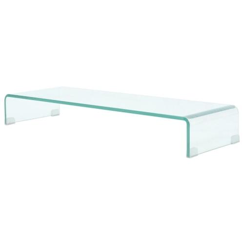 Carrinho de TV Mobile / Boost em Vidro Transparente 90x30x13 cm