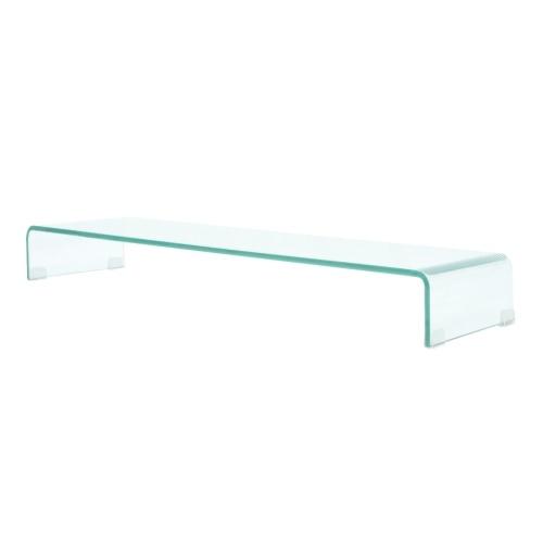 Soporte móvil / Boost TV en vidrio transparente 100x30x13 cm