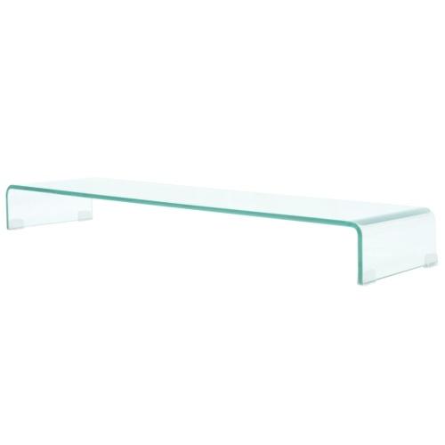 Carrinho de TV Mobile / Boost em Vidro Transparente 110x30x13 cm