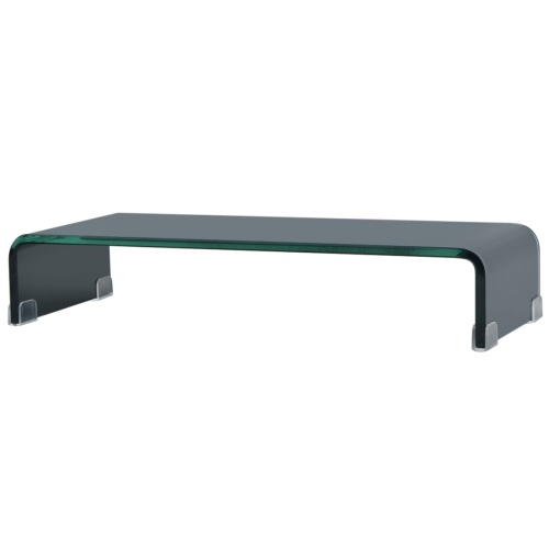 Мобильный / Boost Black Glass TV Stand 60x25x11 см