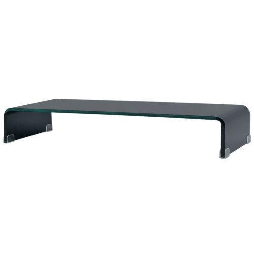 Мобильный / Boost Black Glass TV Stand 80x30x13 см