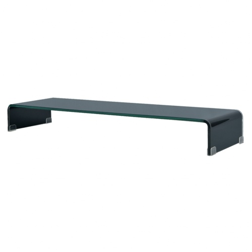 Мобильный / Boost Black Glass TV Stand 100x30x13 см
