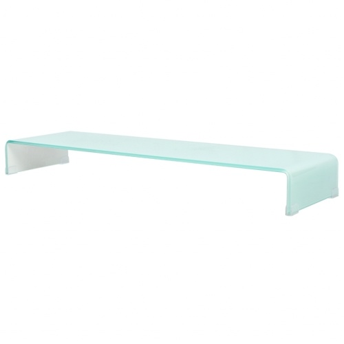 Мобильный / Boost White Glass TV Stand 110x30x13 см