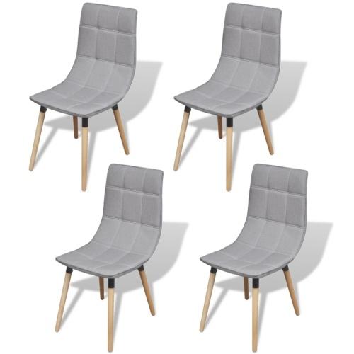 Стулья для столовой 4 шт. Светло-серый