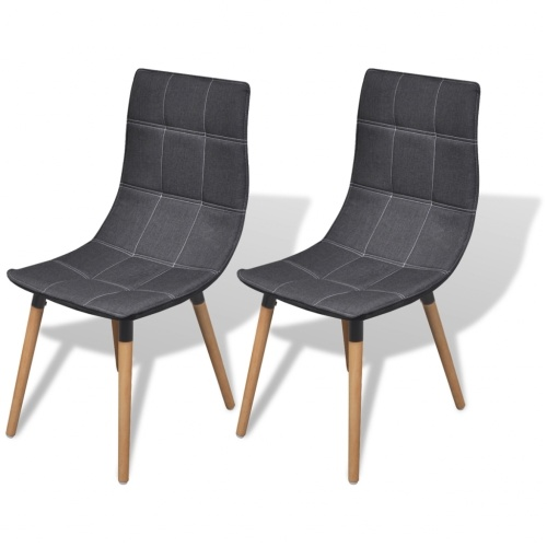 2 шт. Темно-серые стулья для столовой