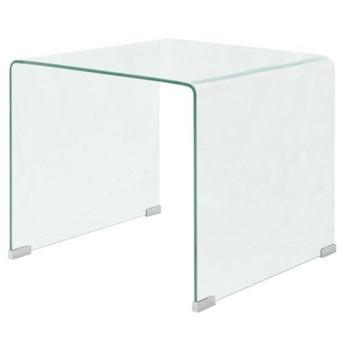 Журнальный столик в закаленном стекле 49,5x50x45 см Нитидо