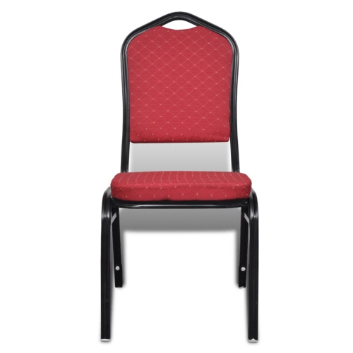 Padded chair Table Stackable Red 10 pcs
