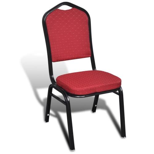 chaise rembourrée Table empilables Rouge 20 pcs