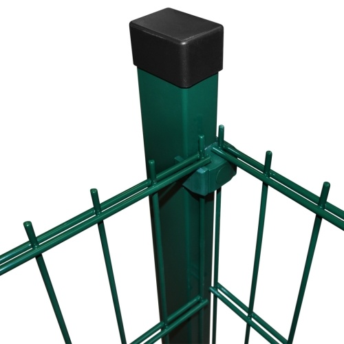 2d garden fence panels with 2008x1230 mm 20m green stakes