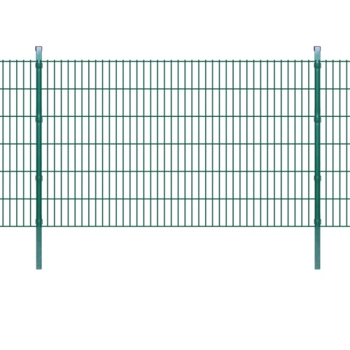 2d garden fence panels with 2008x1230 mm green 24m stakes