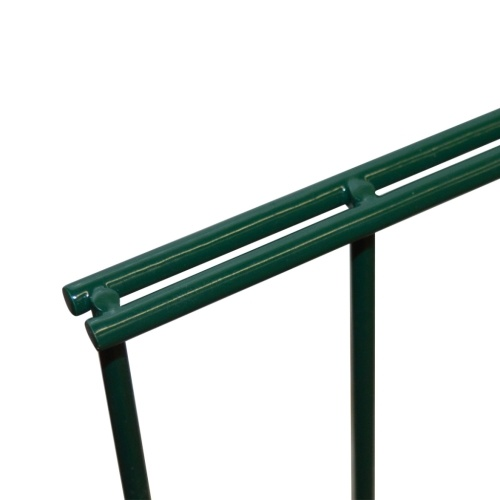 2d garden fence panels with 2008x1430 mm 4m green stakes