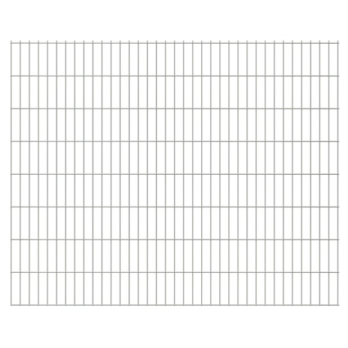 2d panel fencing garden with stakes 2008x1630 mm 46m silver