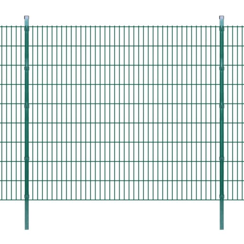 2d garden fence panel with 2008x1830 mm 20m green stakes
