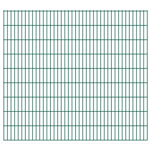 2d garden fence panel with 2008x1830 mm green 46m stakes