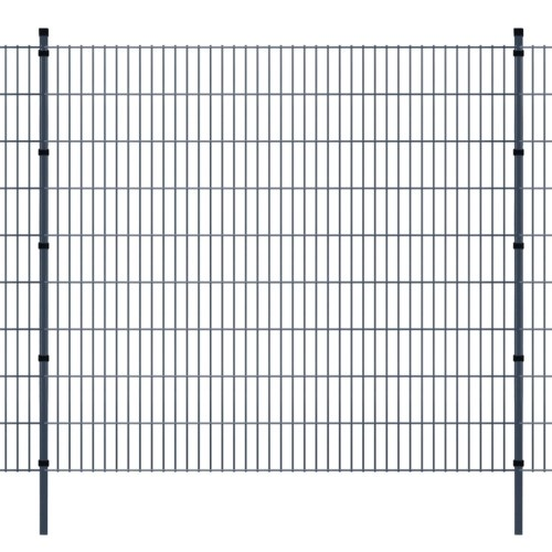2d panel fencing garden with pallets 2008x1830 mm 14m gray