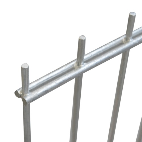 panels garden fence with poles 2008x2030 mm 10 m silver