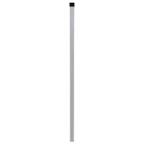 panels garden fence with poles 2008x2030 mm 18 m silver