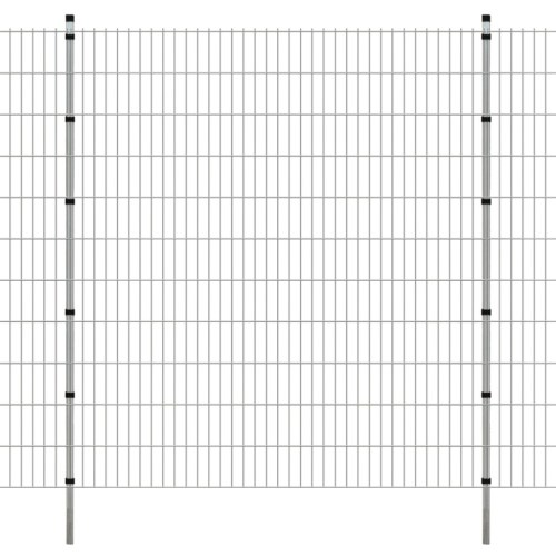 2d garden fence panel with posts 2008x2230 mm 40m silver