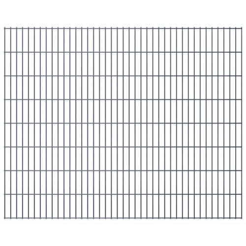 2d panel fencing garden 2008x1630 mm 4m grey