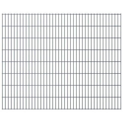 2d panels fence garden 2008x1630 mm 40 m gray