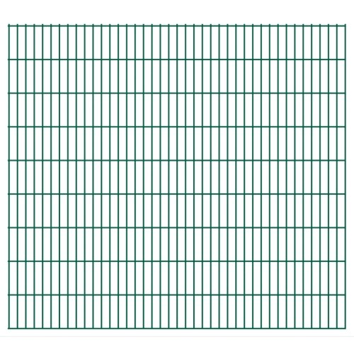 2d panel fencing garden 2008x1830 mm 34 m green