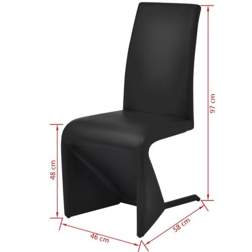 vidaX Консольные столовые стулья 4 шт Черная синтетическая кожа