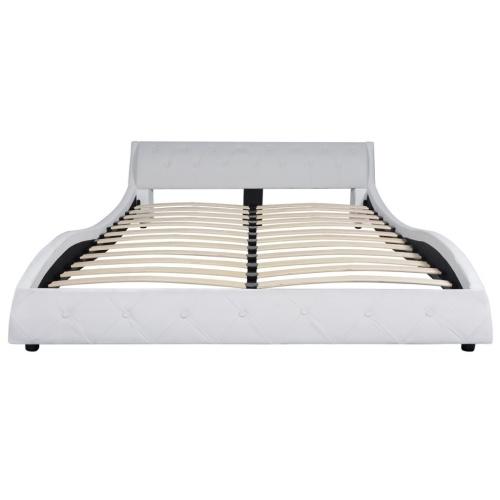 Кровать с MemoryFoam Матрас Белая синтетическая кожа 140x200cm