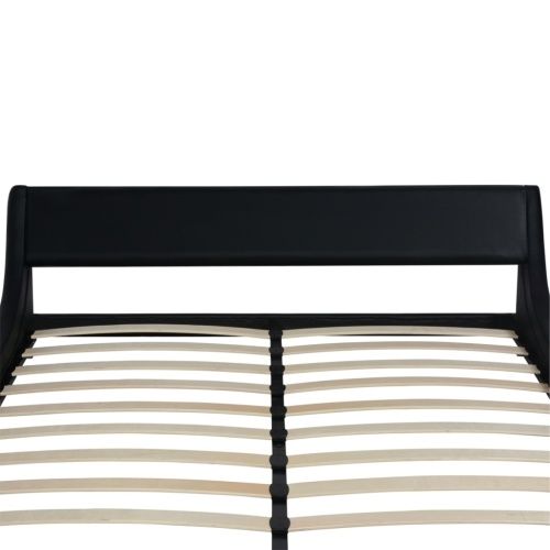 Кровать с матовым пеной с памятью Black Synthetic Leather 180x200 см