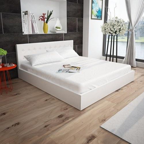 Белая кожаная матрац для хранения сидений 160x200 см
