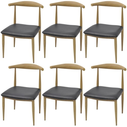 Столовые стулья 6 шт. Черный