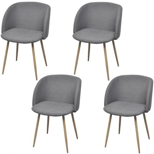 4 шт. Светло-серый стулья для столовой