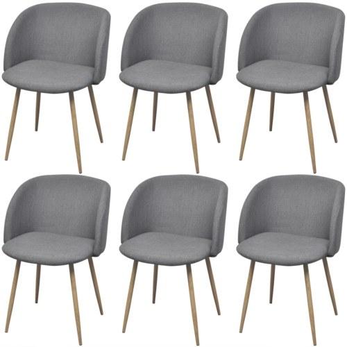 6 шт. Светло-серые стулья для столовой