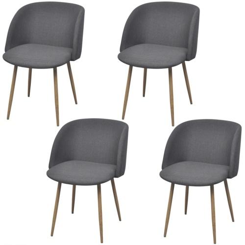 4 шт. Темно-серые стулья для столовой