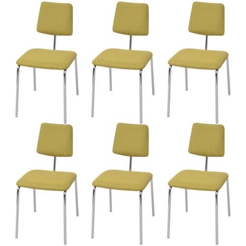Набор 6 зеленых столов для ткани