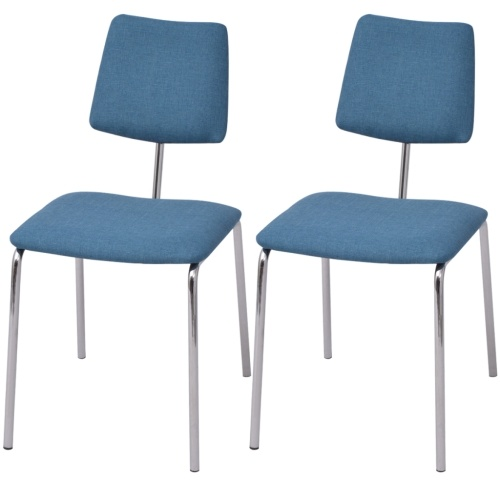 Набор 2 синих стола для стульев