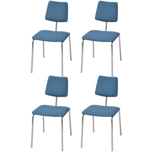 Набор 4 синих стола для стульев