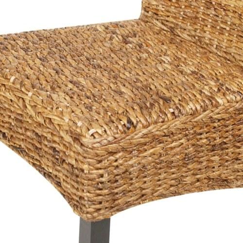Esszimmerstühle 4 Stück in Brown Abaca