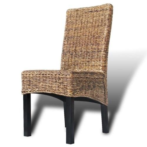 Esszimmerstühle 6 Stück in Brown Abaca