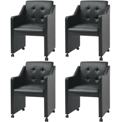 Столовые стулья 4 шт. Черный 59x57.5x86.5 см
