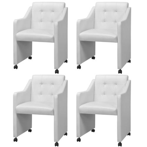 Столовые стулья 4 шт Белый 59x57.5x86.5 см